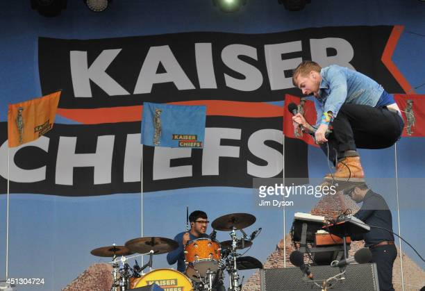 Ricky Wilson of Kaiser Chiefs performs on the Other Stage during Day One of the Glastonbury Festival at Worthy Farm in Pilton on June 27 2014 in...