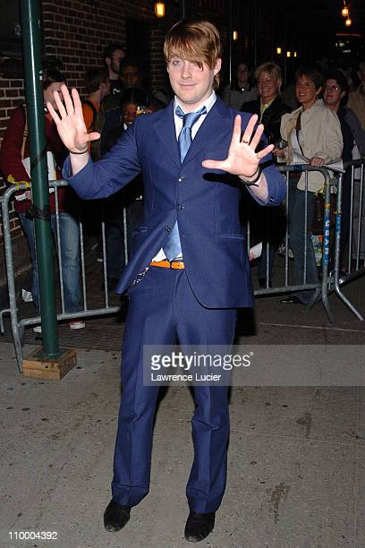 Ricky Wilson of the Kaiser Chiefs during Penelope Cruz Appears Outside The Late Show with David Letterman March 30 2005 at Ed Sullivan Theater in New...