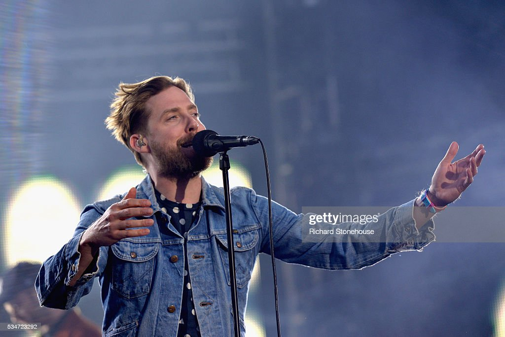 <a gi-track='captionPersonalityLinkClicked' href=/galleries/search?phrase=Ricky+Wilson&family=editorial&specificpeople=206907 ng-click='$event.stopPropagation()'>Ricky Wilson</a> of the Kaiser Chiefs performs live during 'MTV Crashes Coventry' at Ricoh Arena on May 27, 2016 in Coventry, England.