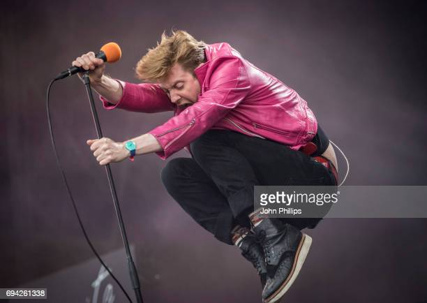 Ricky Wilson of the Kaiser Chiefs performs on day 2 of The Isle of Wight festival at Seaclose Park on June 9 2017 in Newport Isle of Wight