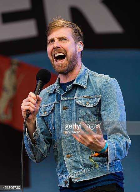 Ricky Wilson of the Kaiser Chiefs performs on The Other Stage during Day 1 of the Glastonbury Festival at Worthy Farm on June 27 2014 in Glastonbury...