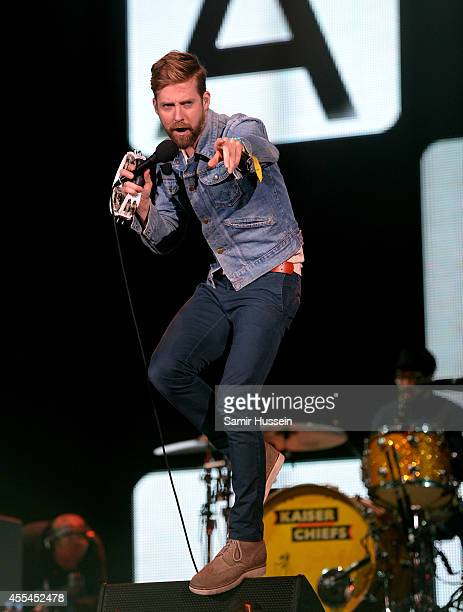 Ricky Wilson of the Kaiser Chiefs performs onstage during the Invictus Games Closing Concert at the Queen Elizabeth Olympic Park on September 14 2014...