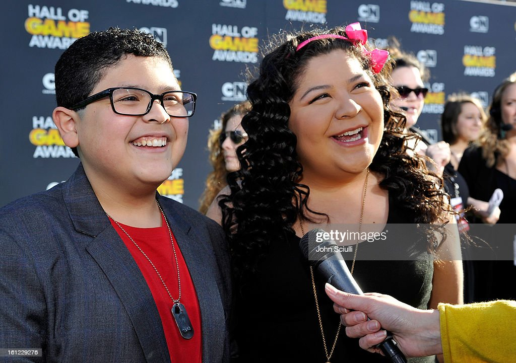 Rico and Raini Rodriguez attend the Third Annual Hall of Game Awards hosted by Cartoon Network at Barker Hangar on February 9, 2013 in Santa Monica, California. 23270_002_JS_0551.JPG