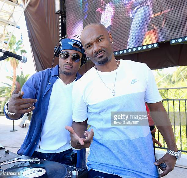 Rico Anderson and host/television personality Big Tigger attend the Soul Train Day Party at Daylight Beach Club at the Mandalay Bay Resort and Casino...
