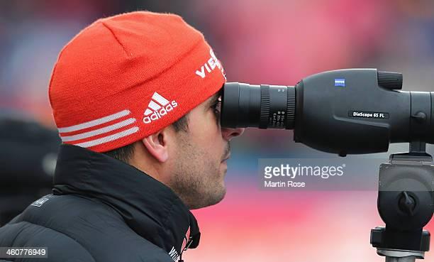 Rico Gross coach of the german biathlon team looks on before women's 125km mass start during the IBU Biathlon World Cup on January 5 2014 in Oberhof...