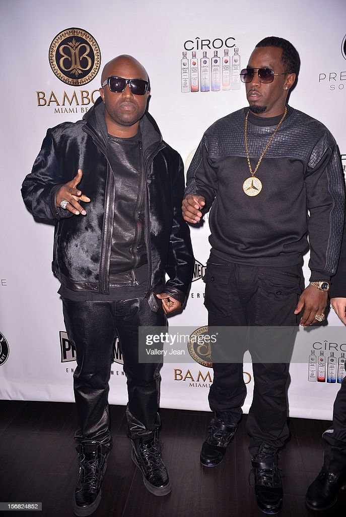 <a gi-track='captionPersonalityLinkClicked' href=/galleries/search?phrase=Rico+Love&family=editorial&specificpeople=691968 ng-click='$event.stopPropagation()'>Rico Love</a> and P.Diddy celebrate Thanksgiving at at Bamboo Miami on November 21, 2012 in Miami, Florida.