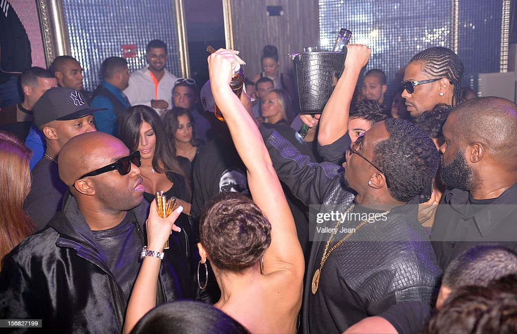 <a gi-track='captionPersonalityLinkClicked' href=/galleries/search?phrase=Rico+Love&family=editorial&specificpeople=691968 ng-click='$event.stopPropagation()'>Rico Love</a> and P.Diddy celebrate Thanksgiving at Bamboo Miami on November 21, 2012 in Miami, Florida.
