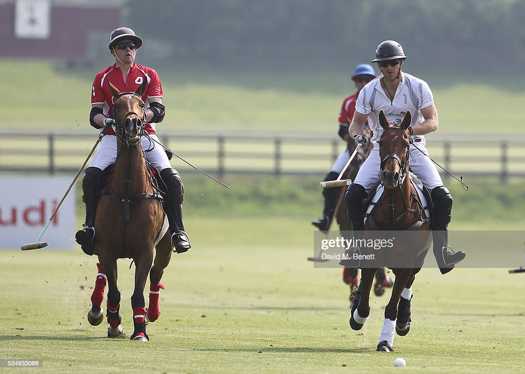 Rico Richert and <a gi-track='captionPersonalityLinkClicked' href=/galleries/search?phrase=Prince+Harry&family=editorial&specificpeople=178173 ng-click='$event.stopPropagation()'>Prince Harry</a> attend day one of the Audi Polo Challenge at Coworth Park on May 28, 2016 in London, England.