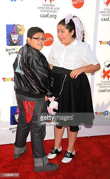 Rico Rodriguez and Raini Rodriguez arrive at the 17th Annual Dream Halloween CAAF Benefit at Barker Hangar on October 30 2010 in Santa Monica...