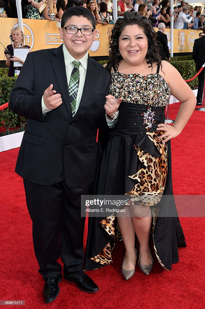 Rico Rodriguez and Raini Rodriguez attend the 20th Annual Screen Actors Guild Awards at The Shrine Auditorium on January 18 2014 in Los Angeles...