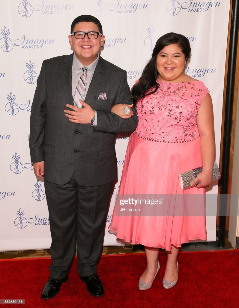 Rico Rodriguez (L) and Raini Rodriguez attend the 32nd annual Imagen Awards on August 18, 2017 in Los Angeles, California.