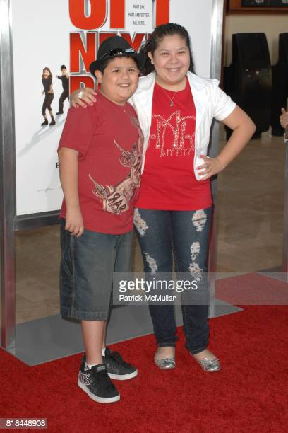 Rico Rodriguez and Raini Rodriguez attend 'The Spy Next Door' Los Angeles Premiere at The Grove on January 9 2010 in Los Angeles California