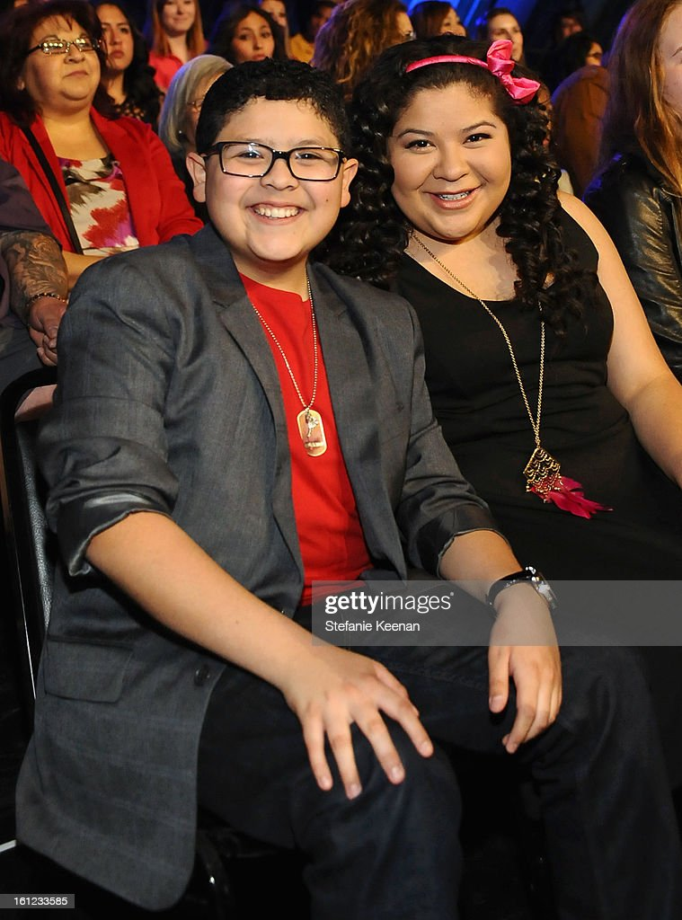 Rico Rodriguez and Raini Rodriguez attend the Third Annual Hall of Game Awards hosted by Cartoon Network at Barker Hangar on February 9, 2013 in Santa Monica, California. 23270_003_SK_0063.JPG