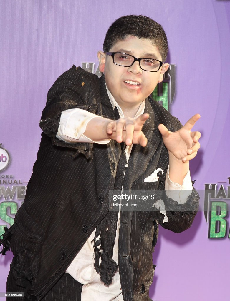 Rico Rodriguez arrives at Hub Network's 1st Annual Halloween Bash held at Barker Hangar on October 20, 2013 in Santa Monica, California.