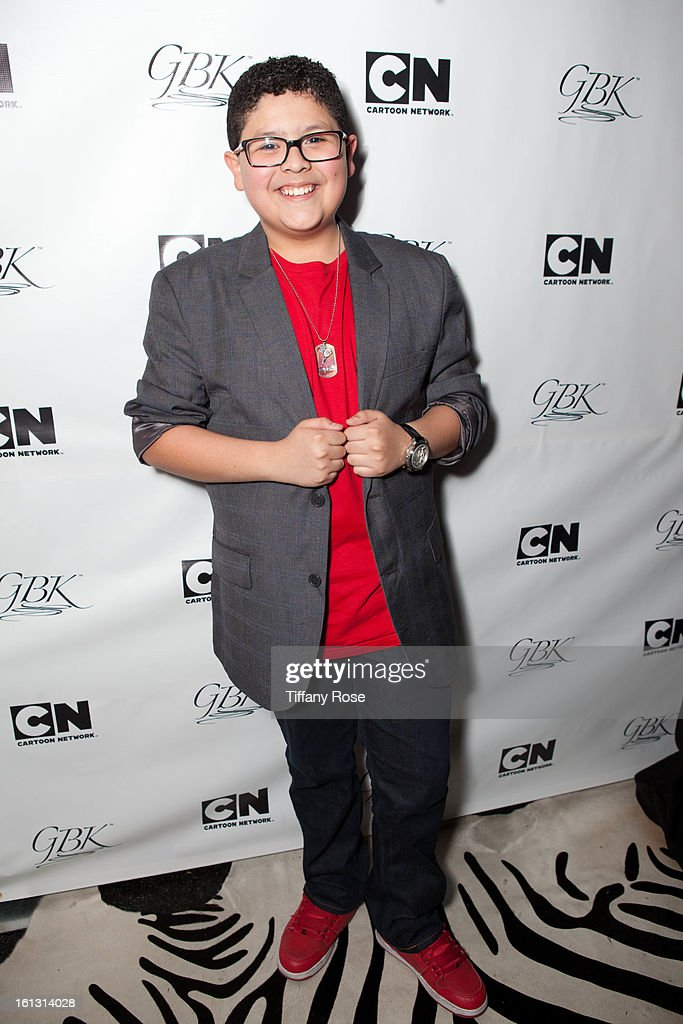 Rico Rodriguez attends the GBK & Cartoon Network's Official Backstage Thank You Lounge at Barker Hangar on February 9, 2013 in Santa Monica, California.