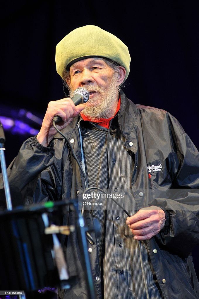 <a gi-track='captionPersonalityLinkClicked' href=/galleries/search?phrase=Rico+Rodriguez+-+Musician&family=editorial&specificpeople=15025367 ng-click='$event.stopPropagation()'>Rico Rodriguez</a> of Jools Holland and his Rhythm and Blues Orchestra performs on stage at Kew Gardens on July 12, 2013 in London, England.