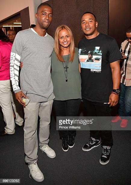 Rico Wade Shanti Das and Kawan Prather attend Celebrating 25 Years Boyz N The Hood on August 23 2016 in Atlanta Georgia