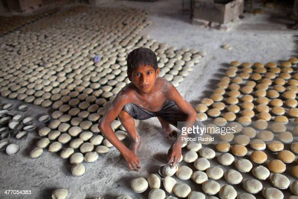 Riday is 8 years old and works as a manual labourer in a soap factory in Dhaka