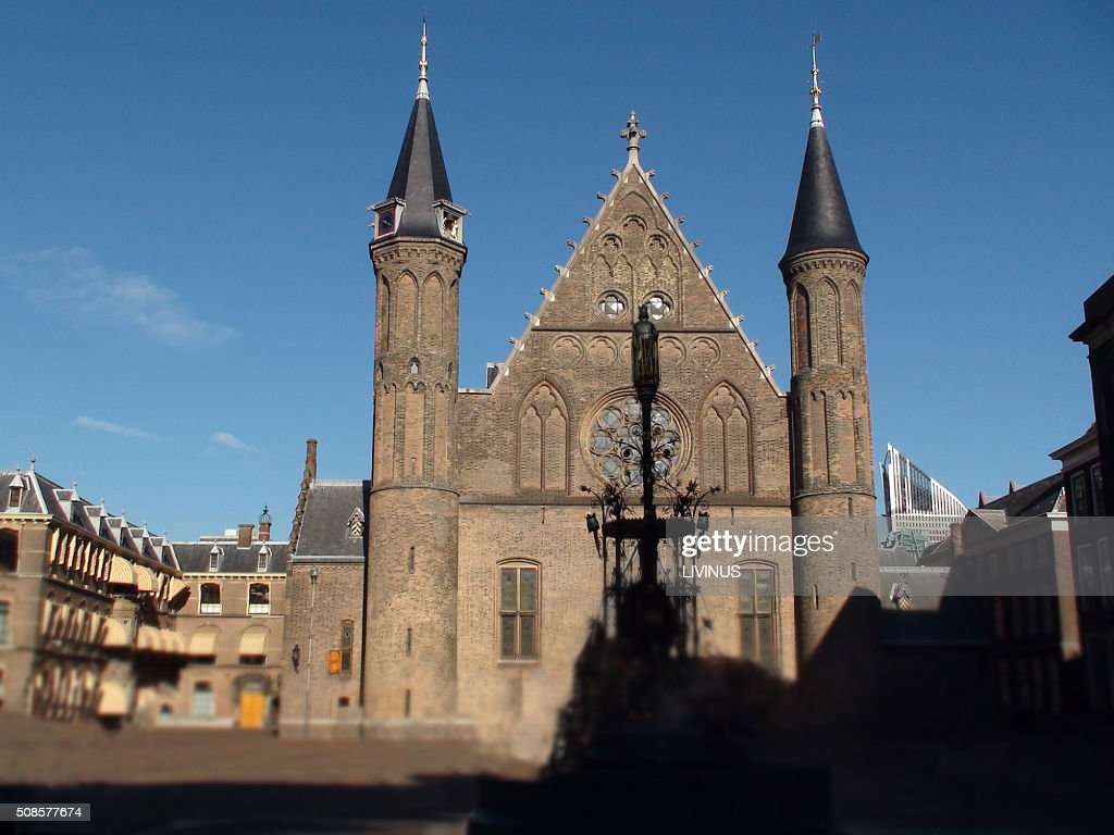 Ridderzaal In The Binnenhof Dutch Parliament Building : Stock Photo