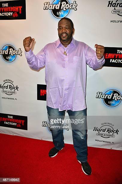 Riddick Bowe attends Saturday Fight Night World Heavyweight Champions Fight Night at Hard Rock Live in the Seminole Hard Rock Hotel Casino on...