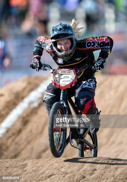 Ride Co Bike Shop's Ashley Hayes finished fourth in the 1516 Girls class at the USA BMX Mile High Nationals on August 6 at Grand Valley BMX in Grand...