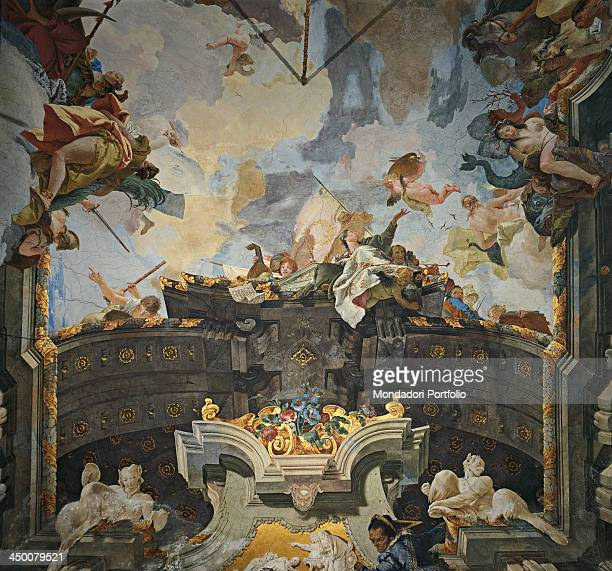 Ride of the Sun Chariot driven by Apollo by Giambattista Tiepolo 18th Century fresco