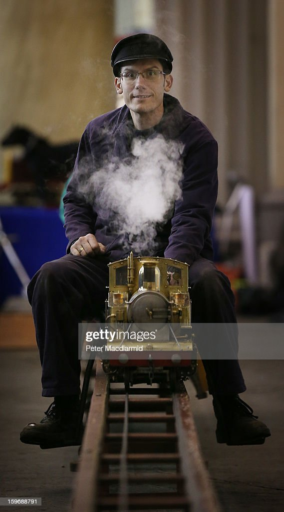 A ride on steam locomotive is displayed at The London Model Engineering Exhibition at Alexandra Palace on January 18, 2013 in London, England. The exhibition features more than a thousand models from over 50 national and regional clubs and societies. A wide range of locomotives, boats and aircraft are on show.