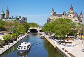 Rideau Canal, boat cruise and Parliament of Canada