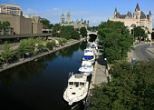 Rideau Canal in Downtown Ottawa