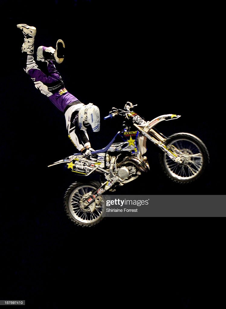 FMX rider at Nitro Circus Live at Manchester Arena on December 4, 2012 in Manchester, England.