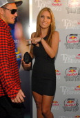 BMX rider Corey Bohan and actress Audrina Patridge arrive at the XGames 'Red Bull Toasted' Action Sports party honoring icon Travis Pastrana at...