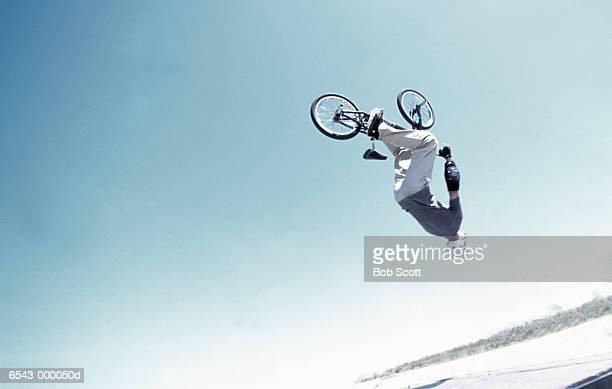 BMX  Rider Doing Black Flip