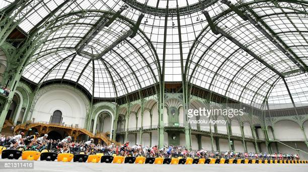 Rider in action during the final stage of the Tour de France 2017 cycling race at the Grand Palais in Paris France on July 23 2017