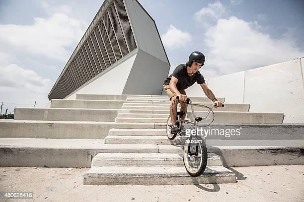 BMX rider in city