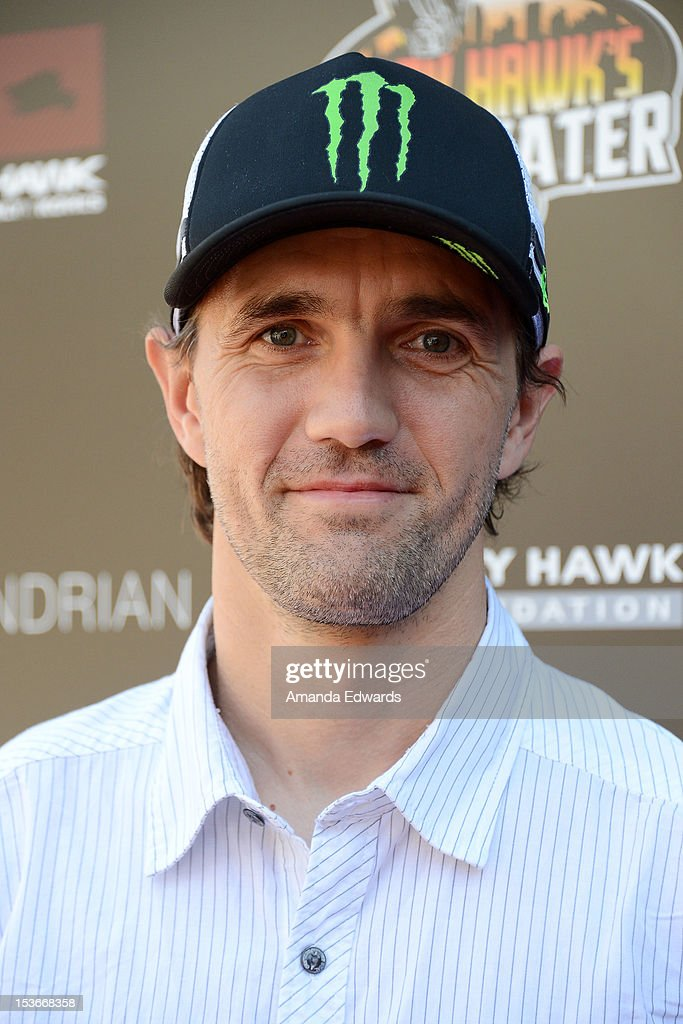 BMX rider Jamie Bestwick arrives at the 9th Annual Stand Up For Skateparks Benefiting The Tony Hawk Foundation at a private residence on October 7, 2012 in Beverly Hills, California.