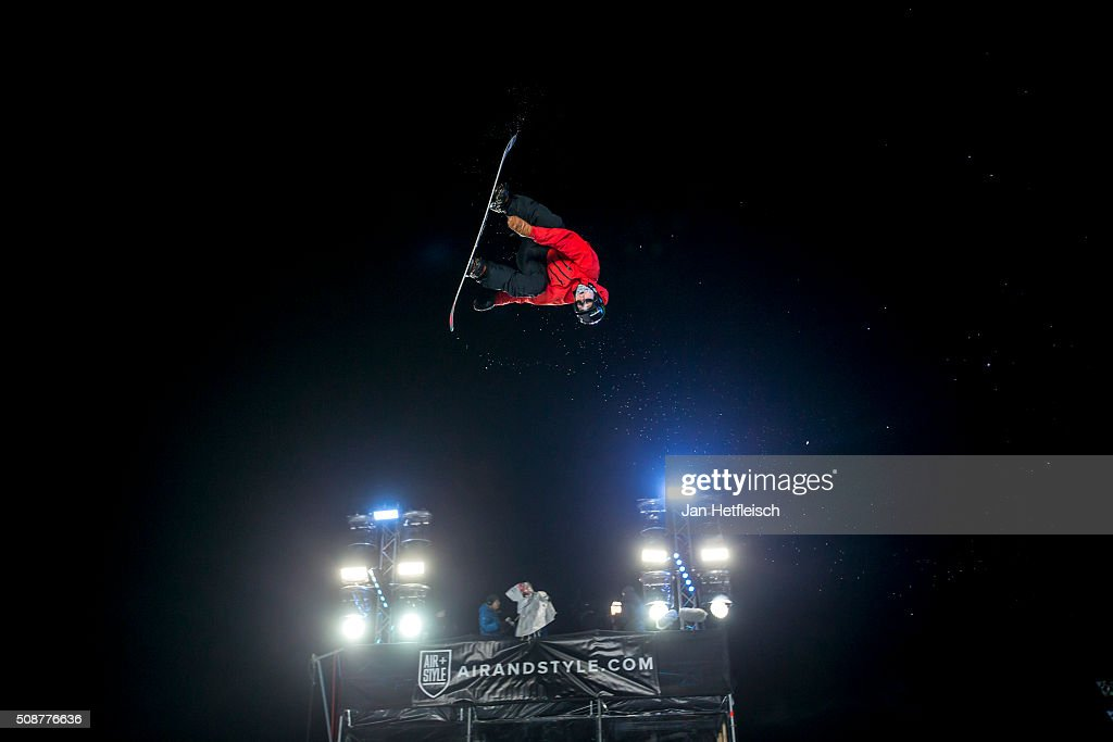 A rider jumps during Air and Style Festival February 6, 2016 in Innsbruck, Austria.