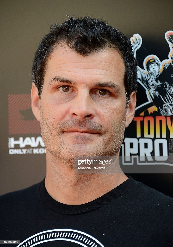 BMX rider Mat Hoffman arrives at the 9th Annual Stand Up For Skateparks Benefiting The Tony Hawk Foundation at a private residence on October 7, 2012 in Beverly Hills, California.