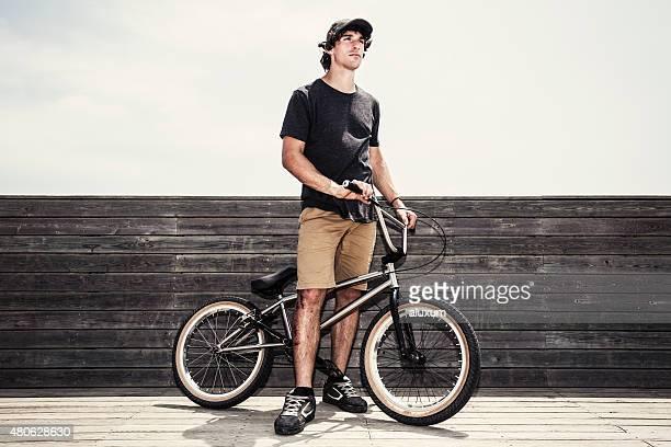BMX portrait de randonneur