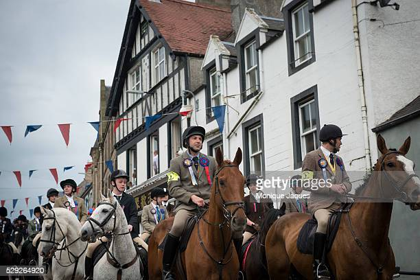 Riders begin the start of the Selkirk Common Riding event on June 13th 2014 The event a celebration of ancient traditions and history began when the...