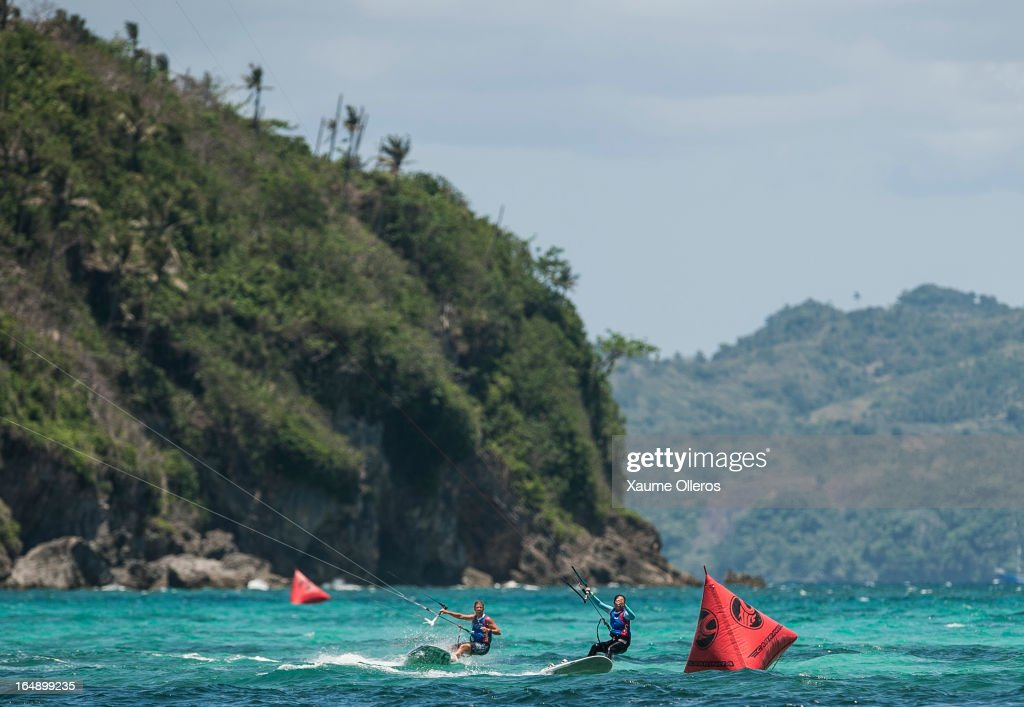 Riders compete in Race board racings during day four of the KTA at Boracay Island on March 29, 2013 in Makati, Philippines.