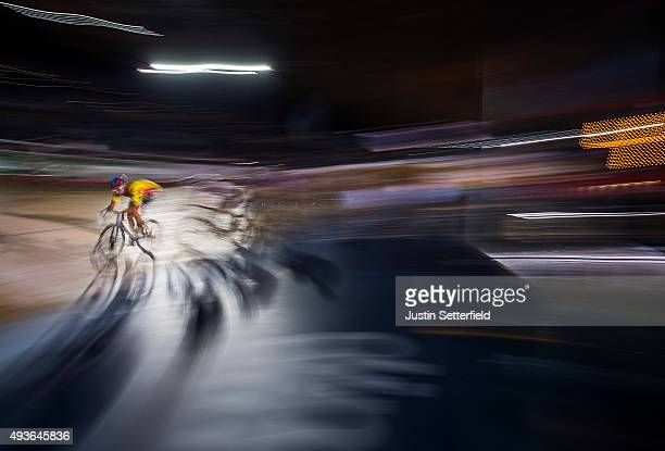 Riders compete in the Final Chase during day four of the London Six Day Race at the Lee Valley Velopark on October 21 2015 in London England