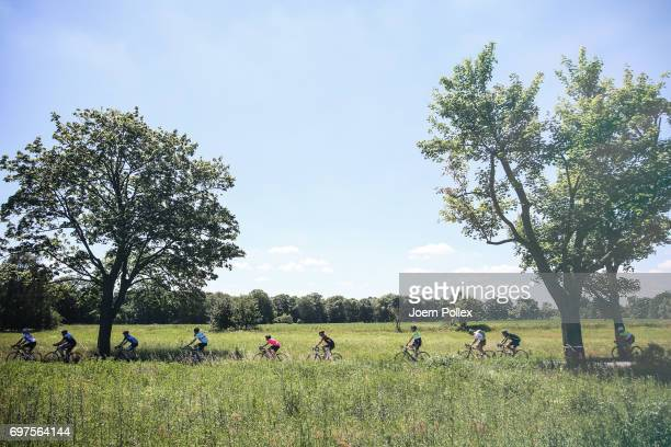 Riders compete in the Velothon Berlin on June 18 2017 in Berlin Germany