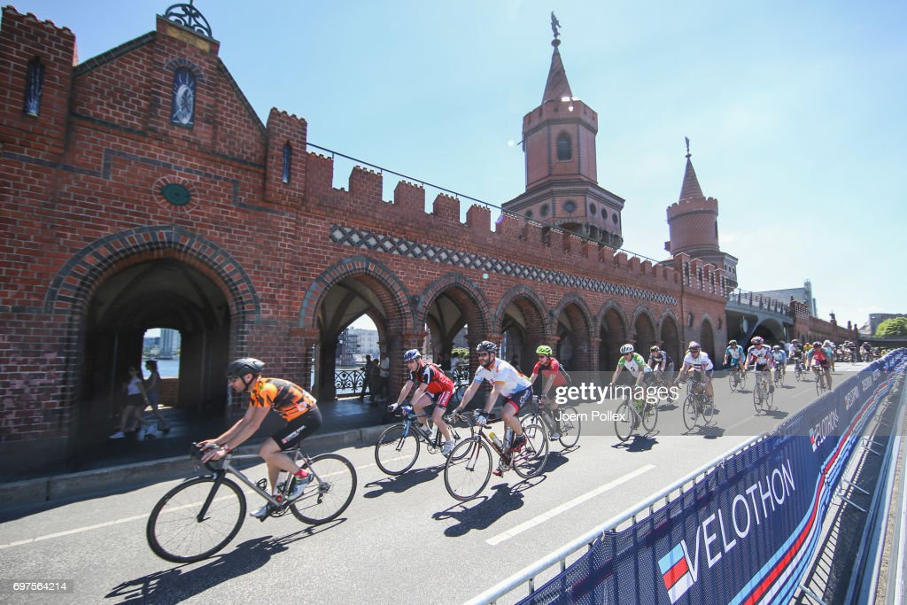 Riders compete in the Velothon Berlin on June 18, 2017 in Berlin, Germany.
