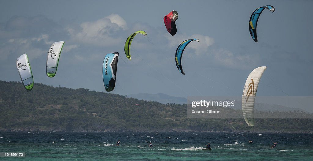 Riders compete in TT Racing during day four of the KTA at Boracay Island on March 29, 2013 in Makati, Philippines.