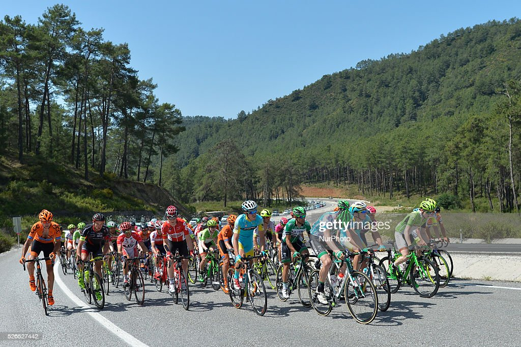 Riders during the sixth stage of the 52nd Presidential Tour of Turkey 2016, the 117 km from Kumluca to Elmali. On Friday, 29 April 2016, in Elmali, Turkey.
