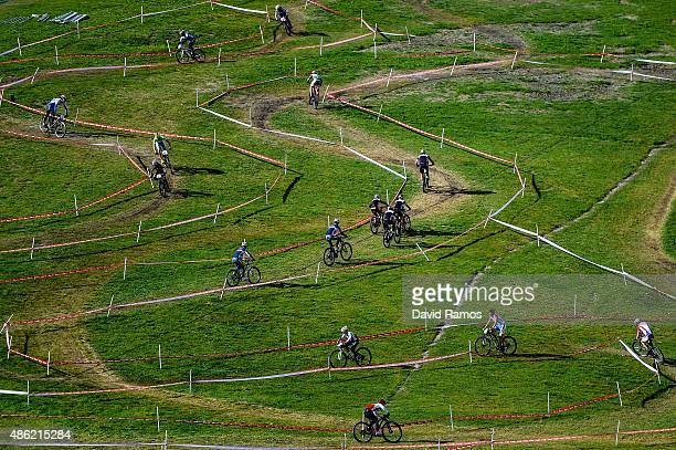 Riders in action during a CrossCountry official training session during day 1 of the UCI Mountain Bike Trials World Championships on September 1 2015...