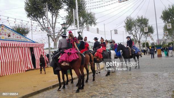 Riders in 'feria de abril'. Seville