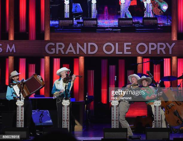 Riders in the Sky perform during Grand Ole Opry Total Eclipse 2017 Special Sunday Night Show at Grand Ole Opry House on August 20 2017 in Nashville...
