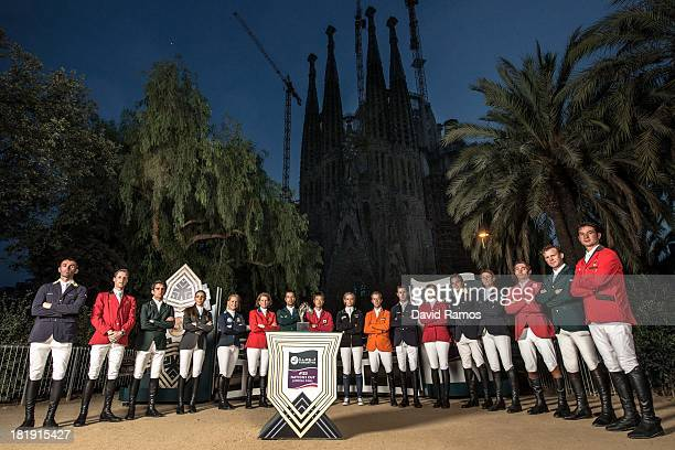 Riders representing the countries who will be competing at the first ever Furusiyya FEI Nations Cupâ Jumping Final Oleg Krasyuk of Ukraine Pieter...