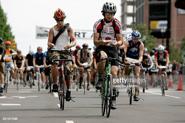 Riders take to the street as over 700 bicycle messengers from around the world compete in the Thirteenth Annual Cycle Messenger World Championships...